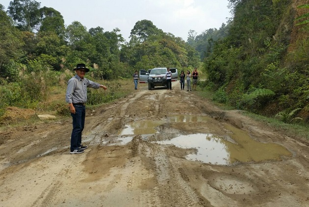 A common sight in rural areas in Sabah and Sarawak. Every year, Putrajaya seems to allocate money to construct new roads but it never seems to overcome such bad conditions.