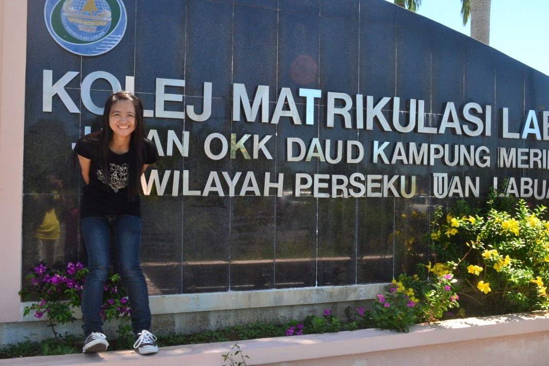 The bold signboard announcing Kolej Matrikulasi Labuan is a favourite spot for its students to grab a souvenir photograph.
