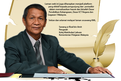 A photo of Sawang and his message to the community on the KML website. Last week he denied the students were having problems.