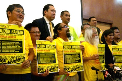 Some of the Bersih leaders in this file photo.
