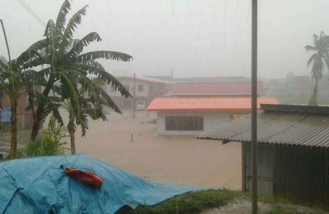 At least five houses in Kg Rancha-Rancha Darat here were inundated by the floodwaters due to torrential rain since Friday evening. Eight villages affected by the flash floods.