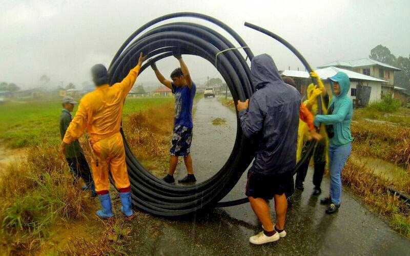 PVC pipes are often used by villagers in the rural areas to channel down water via gravity feed system. - Internet photo