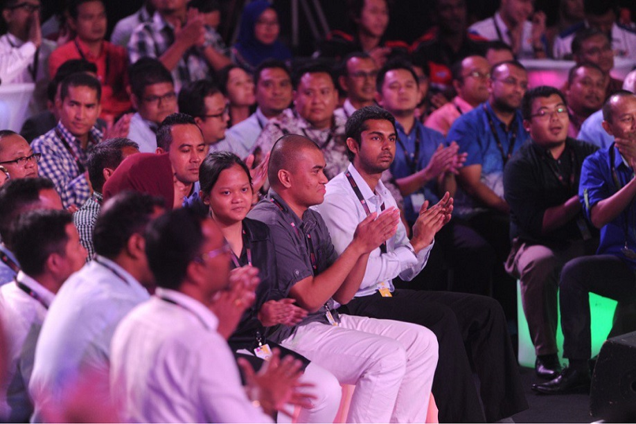 A section of the crowd that attended 'Dialog Perdana Transformasi Nasional 50' in Kuala Lumpur Thursday night.