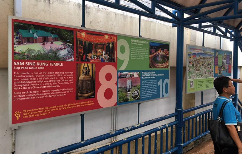 James Wong Launches Signboard To Promote Sandakan Heritage