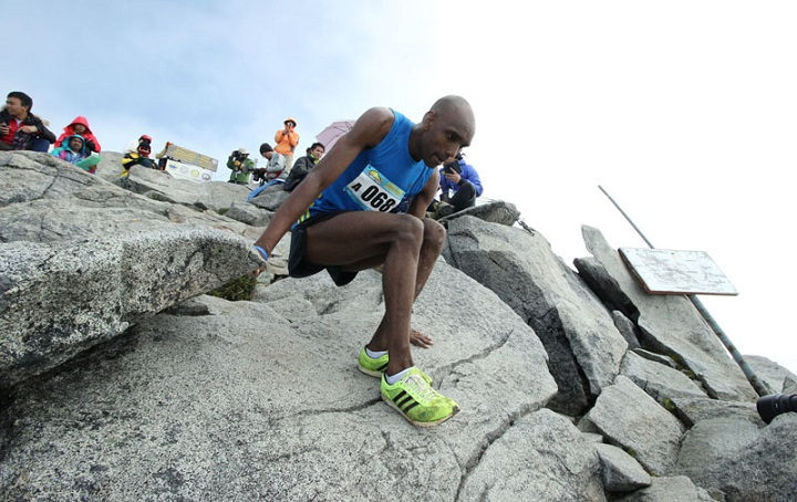File photo - A past Kinabalu Climbathon participant on his way down from the summit.