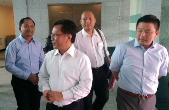 Leiking, right, with Shafie Apdal, says accuser must show proof of the allegation.