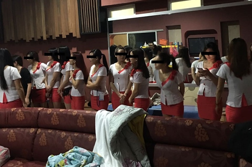 The female masseuses from China were given a raw deal and told to offer sex to customers. - Photo courtesy of PDRM Kota Kinabalu