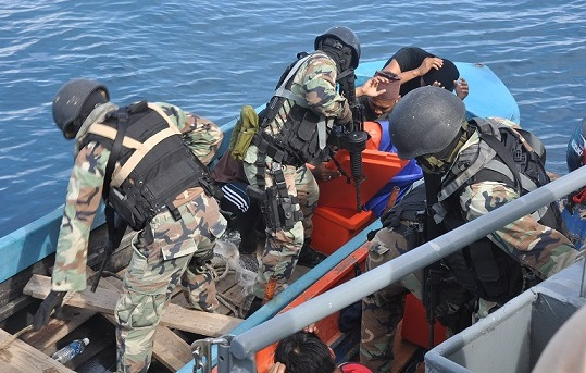 Checks are made on 'foreign' vessels in Malaysian waters, yet there are still leakages as immigrants are still finding ways to sneak in.