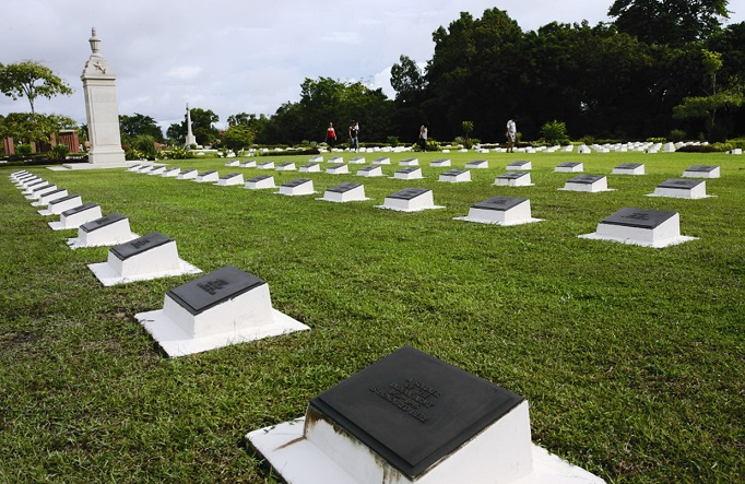 The Labuan World War II cemetery and memorial is a popular attraction for locals as well as visitors.