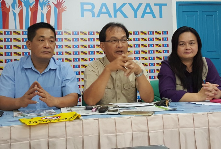 Baru Bian, centre, and See Chee How, left, along with Ali Biju, picture below, have categorically denied they are leaving PKR, the party on whose ticket they contested in the last state elections and won.