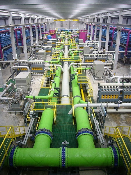 A water desalination plant in China. Malaysia is looking towards China to build similar plants in the country.