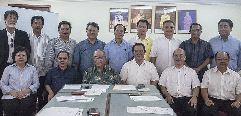 Gabungan Sabah leaders at their 15th council meeting Wednesday. They have offered Shafie Apdal and Lajim Ukin a place in their coalition to spare multi-cornered fights in the election.