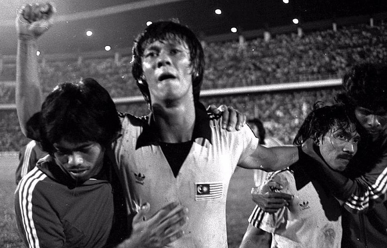 File photo of James, after his goal gave Malaysia a 2-1 win over South Korea in 1980.