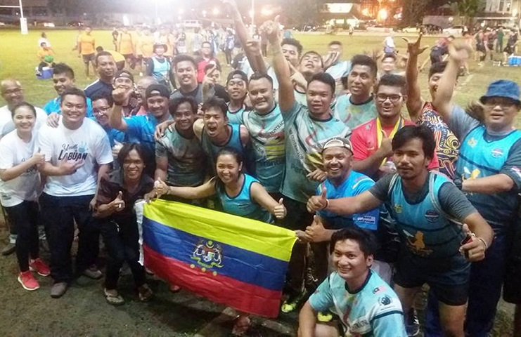 Labuan's rugby team,VRC Flash emerged second in the men's Member of Parliament's Cup.