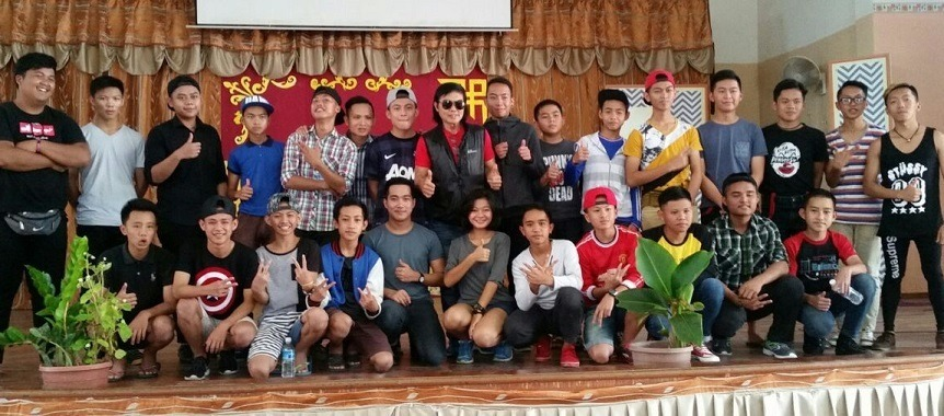 The finalists and the judges in Tambunan.