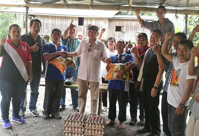 Datuk John Ambrose, a local politician was also present at the blessing and later distributed rice and eggs to the villagers.