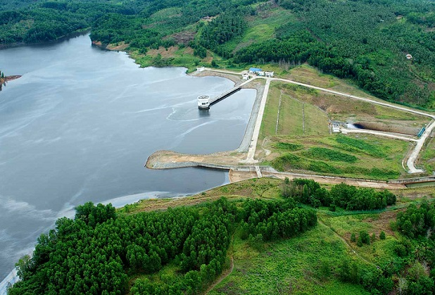 The North Milau dam on the North tributary of Sg. Milau,Milau Treatment Works will provide 55 MLD of treated water to serve the Kudat District, up to 2020. - File photo