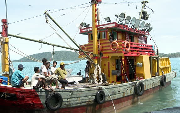 There are some 1,500 Indonesian nationals working as crew on board Malaysian-registered trawlers in Sabah's east coast. If they stop going out to sea, the fishing sector in the state would be badly affected.