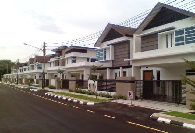 A higher end residential area in Kuching. - Internet photo