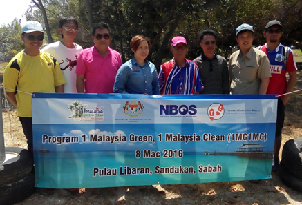 Launching of 2nd beach cleaning project on Libaran in Feb 2016.