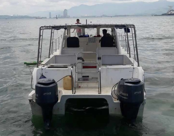 File photo of the missing catamaran. - Photo provided by MMEA Sabah