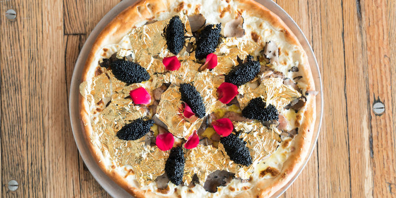 Gold leaf, caviar, truffles and foie gras: Is this the most decadent pizza ever created? — Picture via Instagram.com/IndustryKitchen
