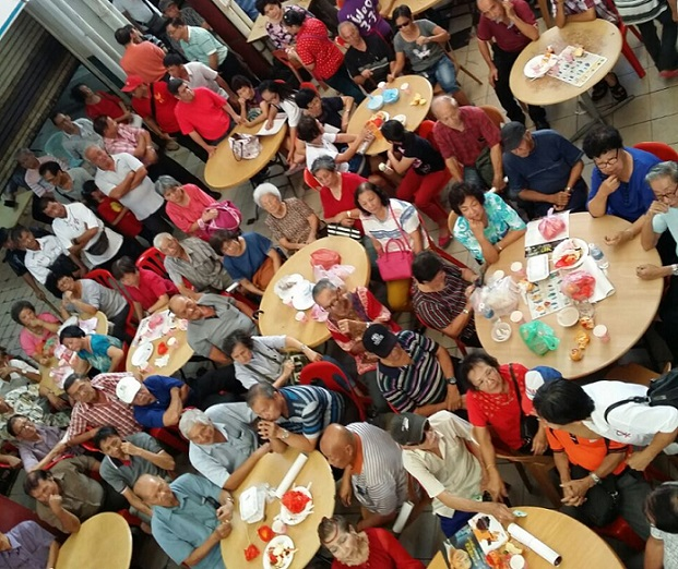 A crowd at the joint Pakatan Harapan Chinese New Year gathering at Damai, Luyang on Saturday. - BorneoToday photograph